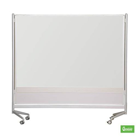 D.O.C. Double-Sided Board, 6' H x 4' W, Porcelain Markerboard on Both Sides