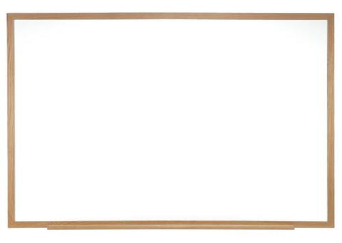 Centurion Porcelain-on-Steel Markerboard, 10' W x 4' H, Wood Frame