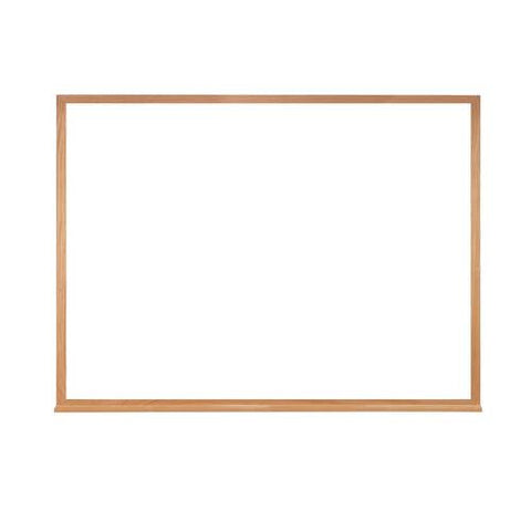 Acrylate Whiteboard Markerboard, 4' W x 3' H, Wood Frame