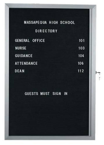 "1-Door Wall-Mounted Letter Board, 24"" H x 18"" W"