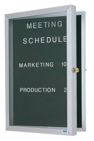 "1-Door Wall-Mounted Letter Board, 36"" H x 24"" W"
