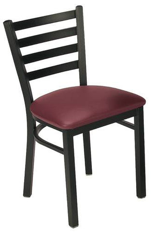 Bistro-Style Chair, Vinyl Seat, Metal Back