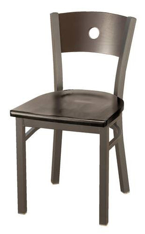 Bistro-Style Chair, Wood Seat and Back