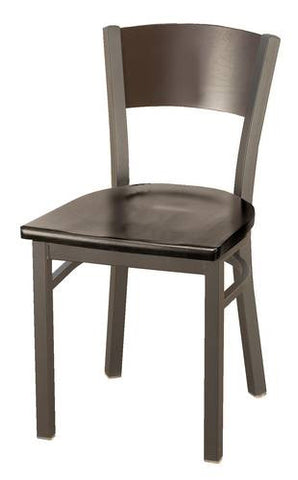 Bistro-Style Chair, Wood Seat/Back
