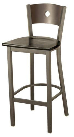 Bistro-Style Stool, Wood Seat/Back