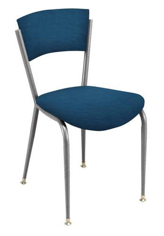 Bistro Style Chair, Vinyl Seat and Back