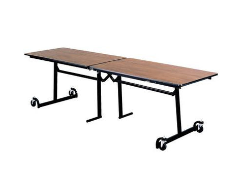"E-Z Fold Roll-A-Way Table, 120"" W x 30"" D, Perfect Edge, Black Frame"