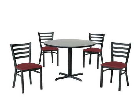 Table Shown With 4 Each Model 413056 GV Chairs.