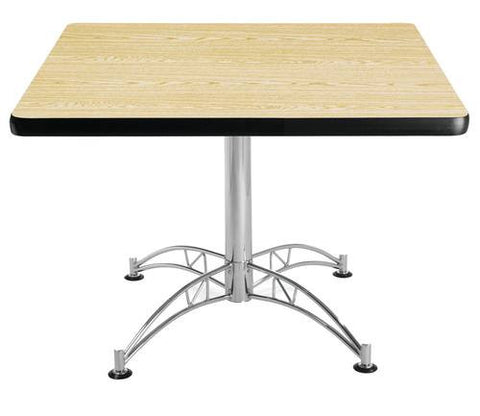 "Table, 42"" Square, Chrome-Plated Base"
