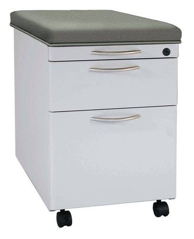 Trace™ Mobile Pedestal, 1 Box & 1 File Drawer and Cushioned Top