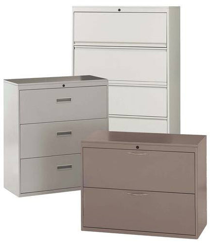 2-Drawer with satin nickel loop pulls; 3-Drawer with recessed pulls; 5-Drawer with full-width pulls