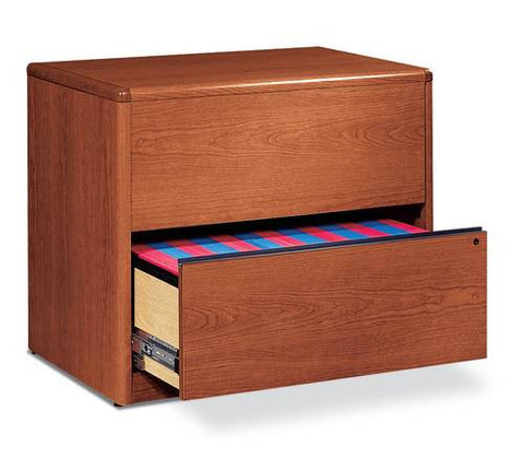 "HON®, 10700 Laminate Collection, Lateral File, 2-Drawer, 36"" W x 20"" D x 30"" H"