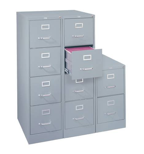Heavy Duty Vertical File Cabinet 2 Drawer Letter 25 Deep Atd