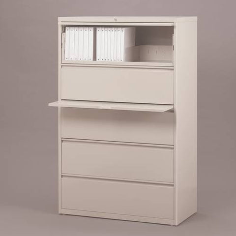 "Premium Lateral File, 5 Drawers, 42"" Wide"