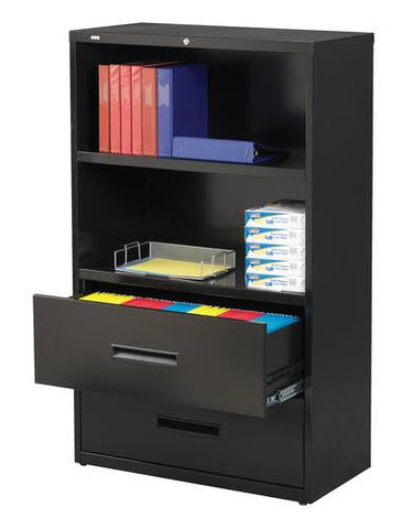 3-in-1 Combination Lateral File and Bookcase