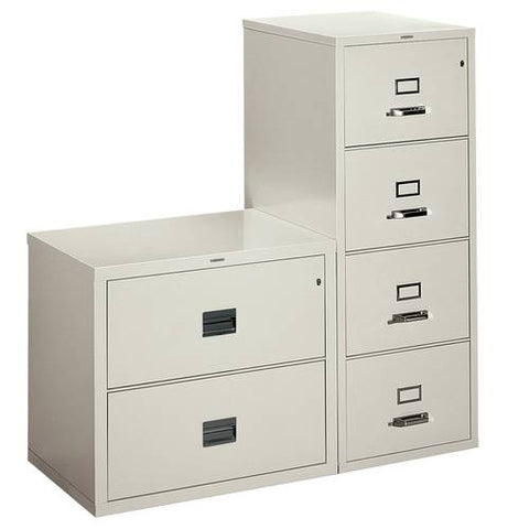 Model 411254 2-Drawer Lateral File shown with Model 411253 4-Drawer Vertical File (sold separately).