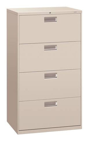 "Hon® Brigade® 4-Drawer Lateral File, 30"" W x 19-1/4"" D x 54"" H"