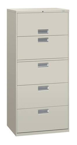 "Hon® Brigade® 5-Drawer Lateral File, 30"" W x 19-1/4"" D x 67"" H"