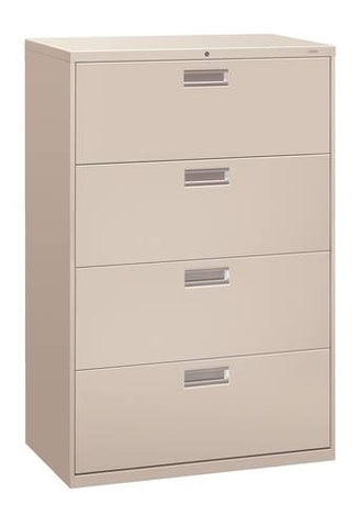 "Hon® Brigade® 4-Drawer Lateral File, 36"" W x 19-1/4"" D x 54"" H"