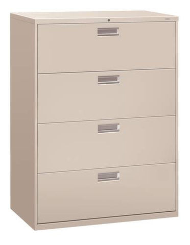 "Hon® Brigade® 4-Drawer Lateral File, 42"" W x 19-1/4"" D x 54"" H"