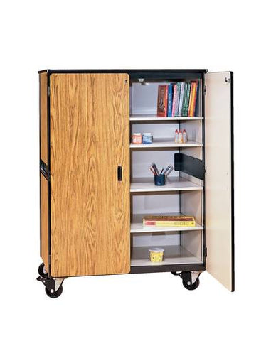 Heavy-Duty Mobile Classroom General Storage Cabinet