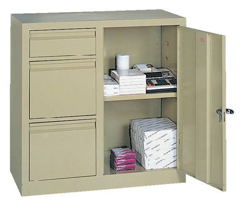 Two-In-One Cabinet with 2 Letter and 1 Box Drawer