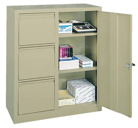 Two-In-One Cabinet with 3 Letter Size Drawers