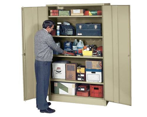 "Extra-Wide Deluxe Storage Cabinet, Shipped Knocked-Down, 78"" H x 24"" D"