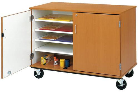 Colorful Mobile Paper Storage Cabinet