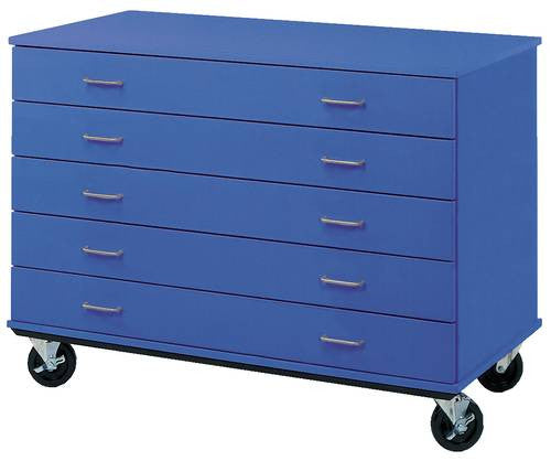 Gentil Colorful Mobile Classroom 5 Drawer Cabinet