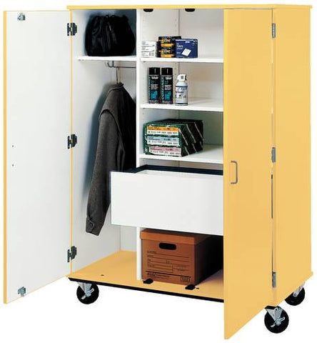 Colorful Mobile Deluxe Wardrobe/Storage Cabinet