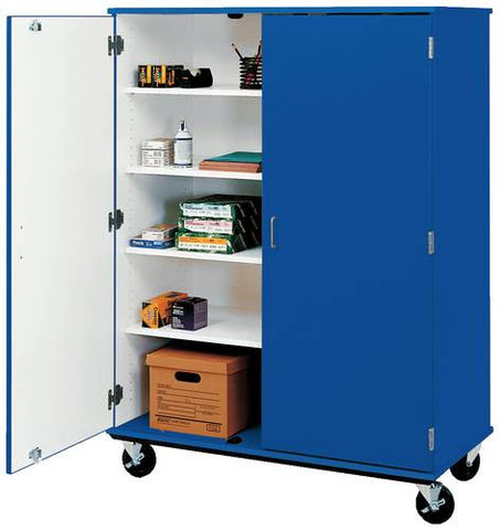 10-Shelf Colorful Mobile Classroom Cabinet