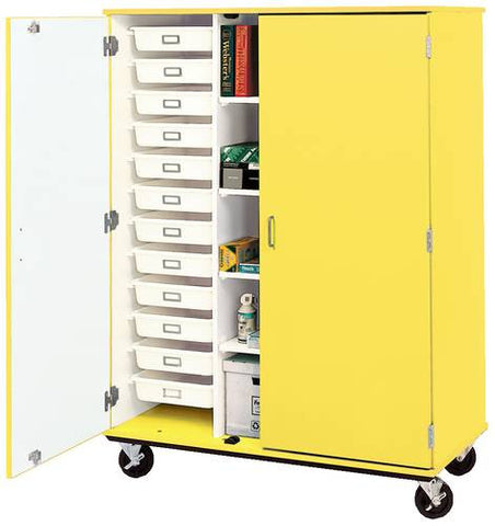 Colorful Mobile Classroom Tray/Storage Cabinet