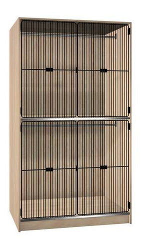 Music/Band Uniform Storage Cabinet with Black Grill Doors, 2 Equal Compartments