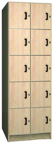 Music Instrument Storage Cabinet with Solid Melamine Doors, 10 Equal Compartments