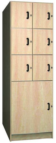 Music Instrument Storage Cabinet with Solid Melamine Doors, 7 Compartments