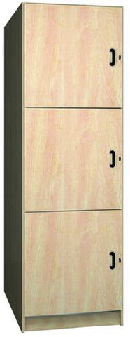 Music Instrument Storage Cabinet with Solid Melamine Doors, 3 Equal Compartments