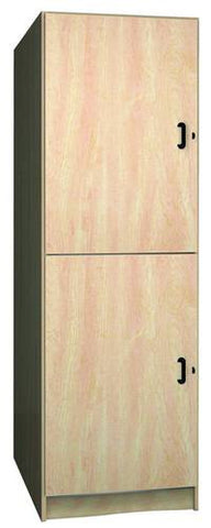 Music Instrument Storage Cabinet with Solid Melamine Doors, 2 Equal Compartments