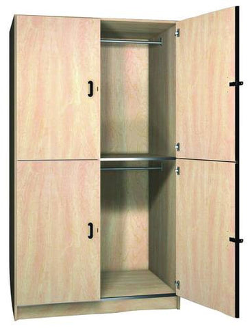 Music/Band Uniform Storage Cabinet with Solid Melamine Doors, 2 Equal Compartments