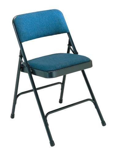 Premium Padded Folding Chair With Fabric Upholstery