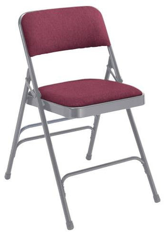 Premium Padded Folding Chair, Triple Brace, Fabric Upholstered