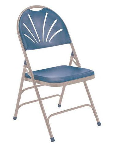 Fan-Back Plastic Folding Chair