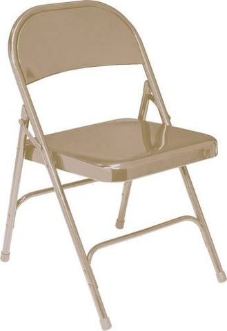 Steel Folding Chair with Contoured Back