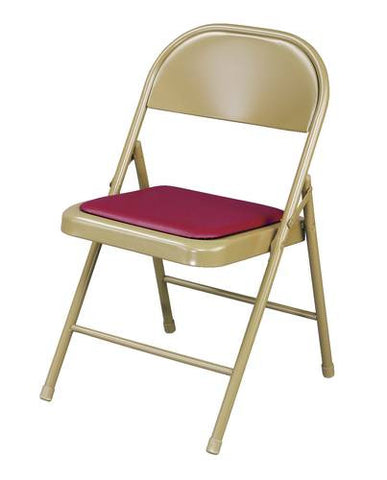 "Super Strong Folding Chair, 1/2"" Padded Vinyl Seat"
