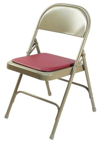 "Extra Strong Folding Chair, 1/2"" Padded Vinyl Seat"