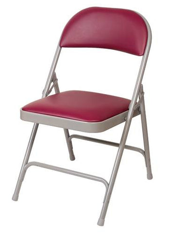 Super Sized Folding Chair with Vinyl Seat and Back