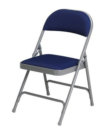 Super Sized Folding Chair with Fabric Seat and Back