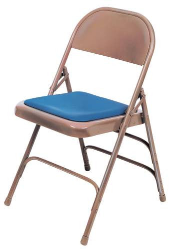 Outstanding Triple Strength Steel Folding Chair 1 Padded Seat Padded Back Vinyl Upholstery Theyellowbook Wood Chair Design Ideas Theyellowbookinfo