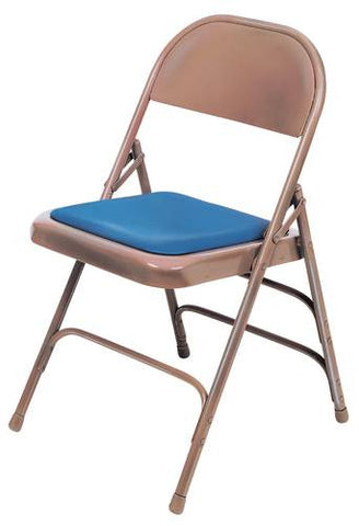"Triple Strength Steel Folding Chair, 1"" Padded Vinyl Seat"