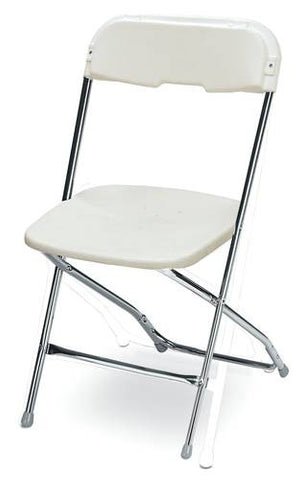 Folding Chair, Dining Height, Chrome Frame Finish